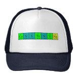 Gorra del nombre de la tabla periódica de