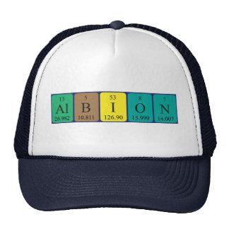 Gorra del nombre de la tabla periódica de Albion