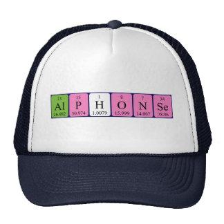 Gorra del nombre de la tabla periódica de Alfonso
