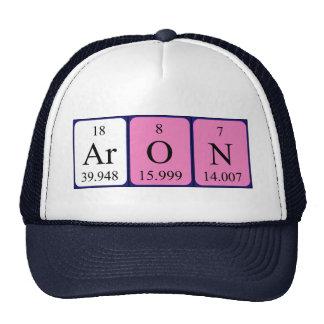 Gorra del nombre de la tabla periódica de Aron