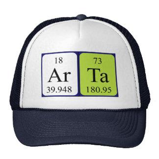 Gorra del nombre de la tabla periódica de Arta
