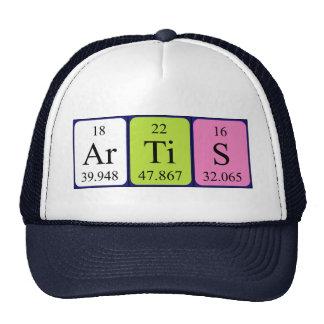 Gorra del nombre de la tabla periódica de Artis