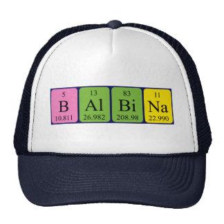 Gorra del nombre de la tabla periódica de Balbina