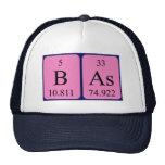 Gorra del nombre de la tabla periódica de Bas