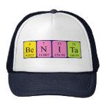 Gorra del nombre de la tabla periódica de Benita