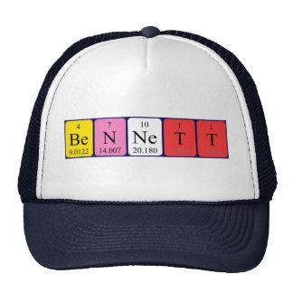 Gorra del nombre de la tabla periódica de Bennett