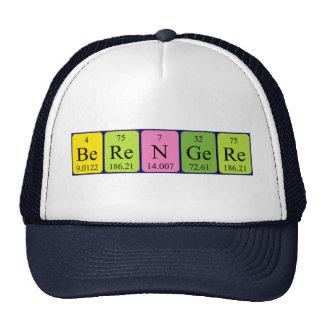 Gorra del nombre de la tabla periódica de Berenger