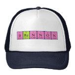 Gorra del nombre de la tabla periódica de Brennon