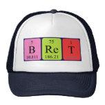 Gorra del nombre de la tabla periódica de Bret