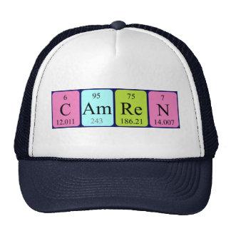 Gorra del nombre de la tabla periódica de Camren