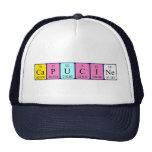 Gorra del nombre de la tabla periódica de Capucine