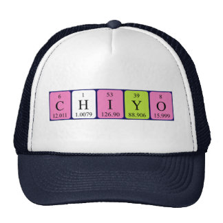 Gorra del nombre de la tabla periódica de Chiyo