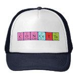 Gorra del nombre de la tabla periódica de Concetta