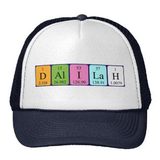 Gorra del nombre de la tabla periódica de Dalilah