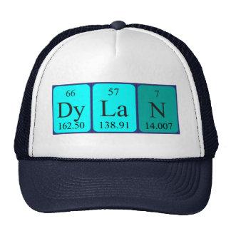 Gorra del nombre de la tabla periódica de Dylan