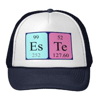 Gorra del nombre de la tabla periódica de Este