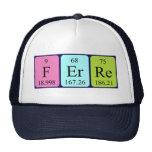 Gorra del nombre de la tabla periódica de Ferre