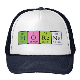 Gorra del nombre de la tabla periódica de Florene