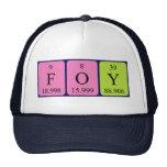 Gorra del nombre de la tabla periódica de Foy
