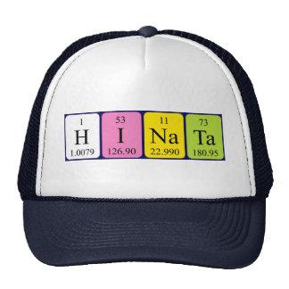 Gorra del nombre de la tabla periódica de Hinata