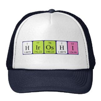 Gorra del nombre de la tabla periódica de Hiroshi
