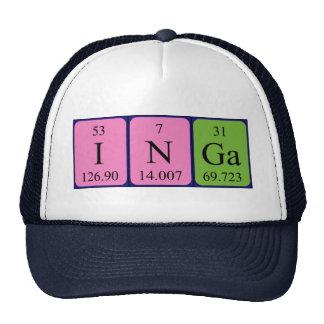 Gorra del nombre de la tabla periódica de Inga