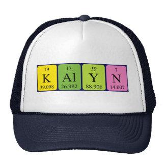 Gorra del nombre de la tabla periódica de Kalyn