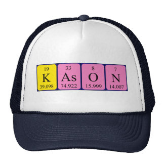 Gorra del nombre de la tabla periódica de Kason