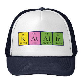 Gorra del nombre de la tabla periódica de Katalin