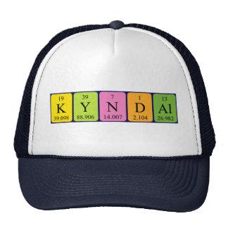 Gorra del nombre de la tabla periódica de Kyndal