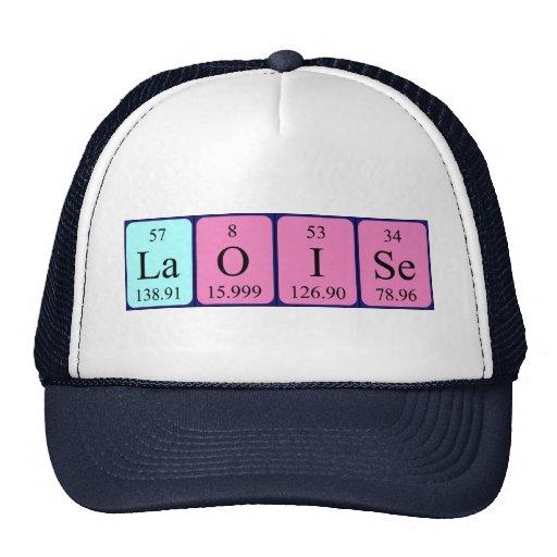 Gorra del nombre de la tabla periódica de Laoise
