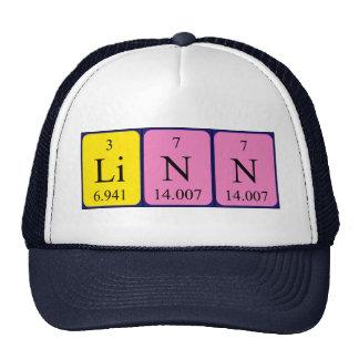 Gorra del nombre de la tabla periódica de Linn