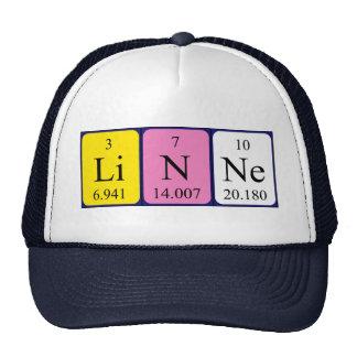 Gorra del nombre de la tabla periódica de Linne