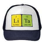 Gorra del nombre de la tabla periódica de Lita