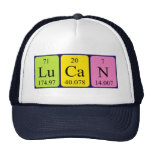 Gorra del nombre de la tabla periódica de Lucan