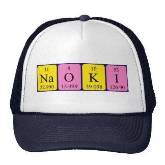 Gorra del nombre de la tabla periódica de Naoki