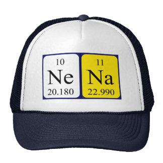 Gorra del nombre de la tabla periódica de Nena