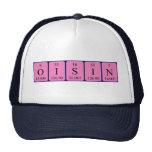 Gorra del nombre de la tabla periódica de Oisin