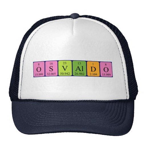 Gorra del nombre de la tabla periódica de Osvaldo