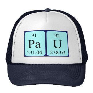 Gorra del nombre de la tabla periódica de Pau