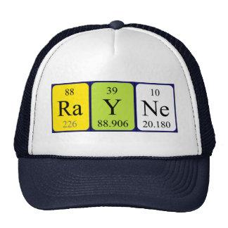 Gorra del nombre de la tabla periódica de Rayne