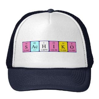 Gorra del nombre de la tabla periódica de Sachiko