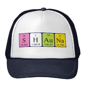 Gorra del nombre de la tabla periódica de Shauna