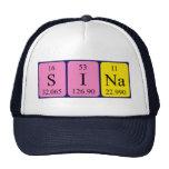 Gorra del nombre de la tabla periódica de Sina