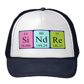 Gorra del nombre de la tabla periódica de Sindre