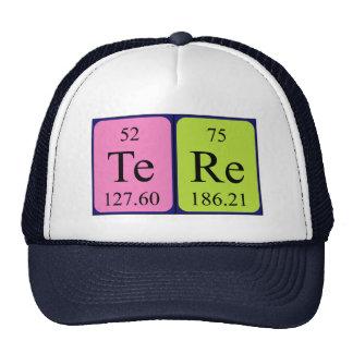 Gorra del nombre de la tabla periódica de Tere