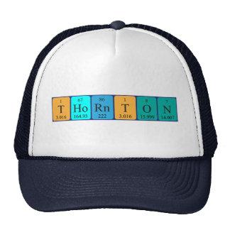 Gorra del nombre de la tabla periódica de Thornton