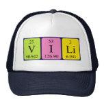 Gorra del nombre de la tabla periódica de Vili
