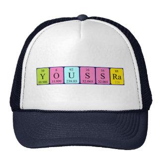 Gorra del nombre de la tabla periódica de Youssra