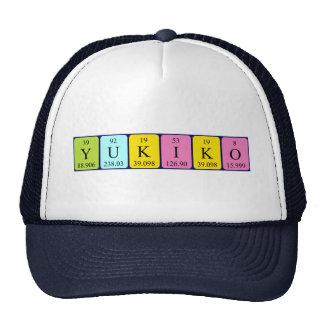 Gorra del nombre de la tabla periódica de Yukiko